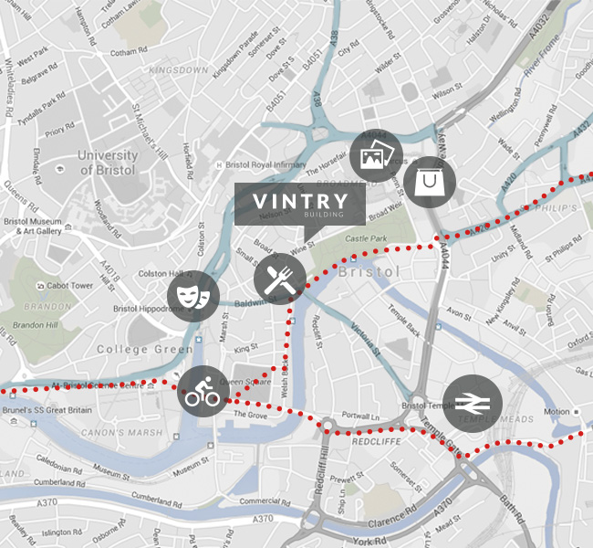 Vintry Building Location Map